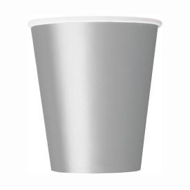 Хартиена парти чашка сребърна 250 мл, 14 бр. в опаковка