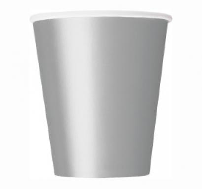 Хартиена парти чашка сребърна 250 мл