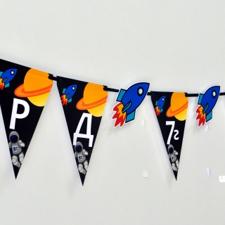 Персонализиран банер Честит Рожден Ден Космос