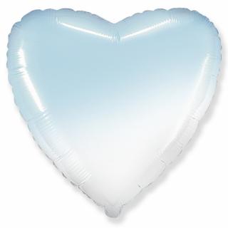 Фолиев балон Сърце, преливащи цветове - син и бял, 46 см /Gd/