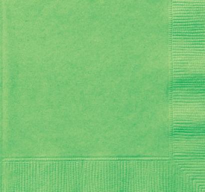 Парти салфетки зелени лайм , 20 бр в пакет