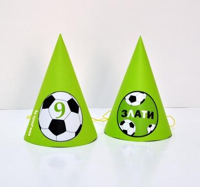 Персонализирана парти шапка Футбол