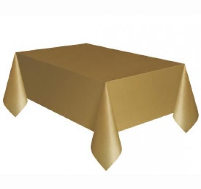 Покривка за еднократна употреба, златна 137х274 см