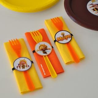 Парти комплект салфетка и виличка пчеличката Мая
