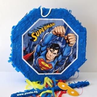 Пинята Супермен 40х40 см, лицензирана DC Comics