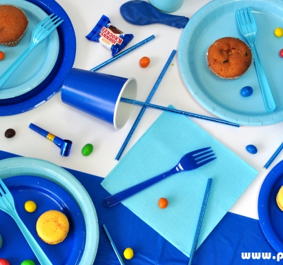 Парти пакет в синьо за 15 празнуващи