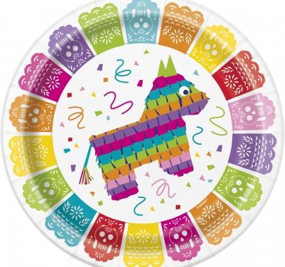 Хартиена парти чинийка  Мексиканска Фиеста 23 см, Mexican Fiesta