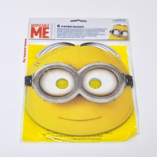 Парти маски Миньоните, 6бр. пакет, лицензирани TM Studios / Universal