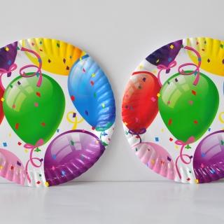 Хартиена парти чинийка  Балони Рожден Ден