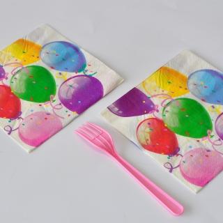Парти салфетки Балони Рожден Ден 20 бр в пакет
