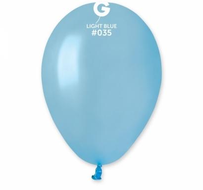 Балон светло син пастел, диаметър 30 см, 10 бр. в пакет