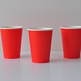 Хартиена парти чашка, 240 мл червена