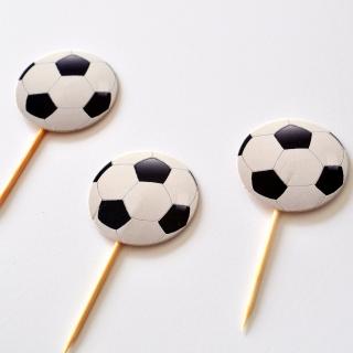 Топер за мъфини Футбол, топка 20 бр. в опаковка
