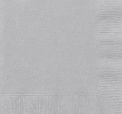 Парти салфетки сребърни, 20 бр в пакет