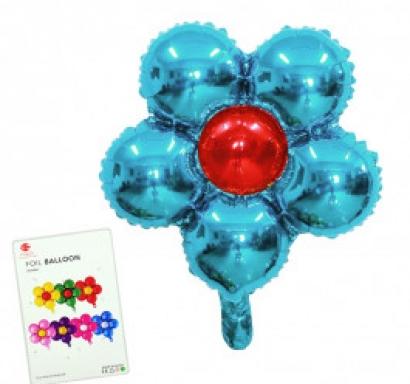 Балон Цвете /фолио/, 48 см. х 48 см., цвят светло син