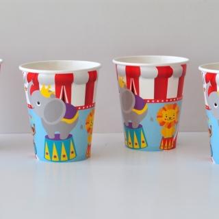 Хартиена парти чашка Цирк