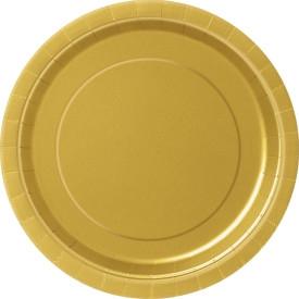 Хартиена парти чинийка златна, 18 см, 20 бр. в опаковка