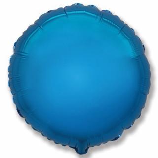 Фолиев балон кръг цвят син, 45 см Flexmetal, /Gd/