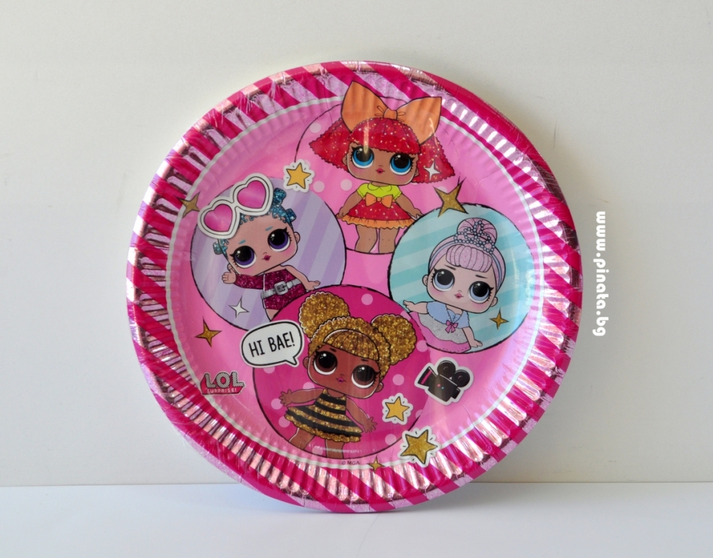 Хартиена парти чинийка Лол Сюрприз, лицензирани