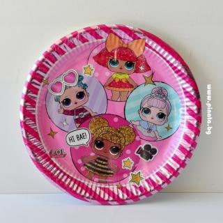 Хартиена парти чинийка Лол Сърпрайз, лицензирани