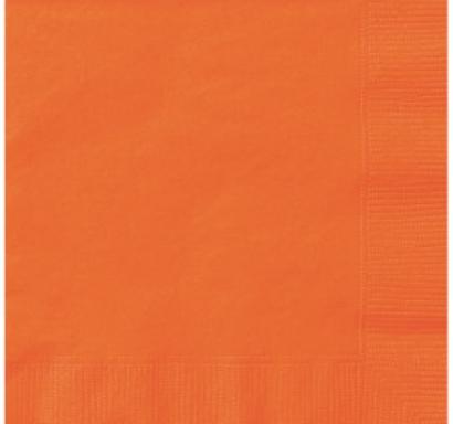 Парти салфетки оранжеви, 20 бр в пакет