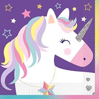 Парти салфетки Еднорог 16 бр в пакет, Unicorn