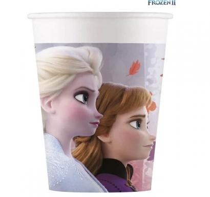 Хартиена парти чашка Елза и Ана Замръзналото Кралство 2 / Frozen 2, лицензирана Disney, 8 бр. в опаковка