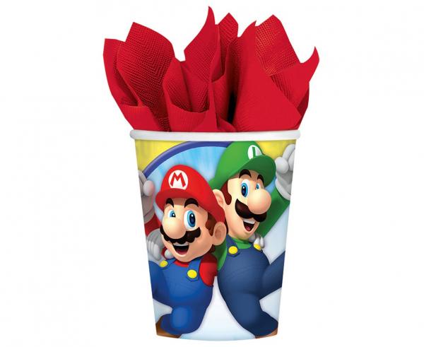 Хартиена парти чашка Супер Марио / Super Mario 250 мл, 8 бр. в опаковка /Gd/