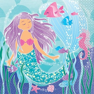 Парти салфетки Русалка 16 бр в пакет, Mermaid