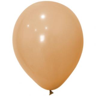 Балон  цвят телесен/руж пастел, диаметър 30 см, 10 бр. в пакет