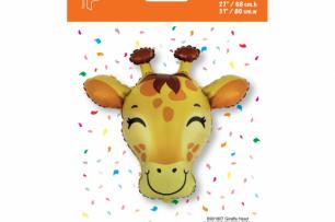 Балон фигура Жираф глава, 80 см лиценз Flexmetal /Gd/