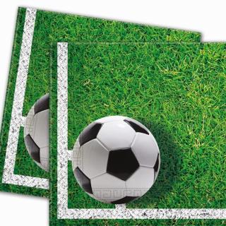 Парти салфетки Футбол 33х33 см, 20бр. в пакет, лиценз /Gd/