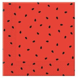 Парти салфетки Диня / Watermelon 33х33 см, 20бр. в пакет /Gd/