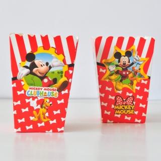 Кутийки за пуканки или сладки Мики Маус - 8 бр. в пакет