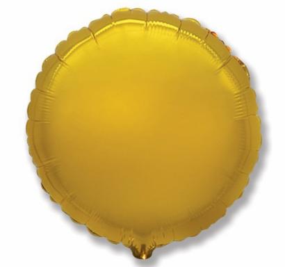 Фолиев балон кръг цвят злато, 45 см Flexmetal, /Gd/