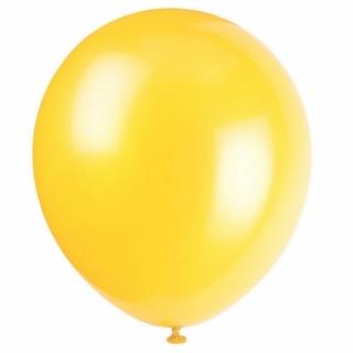 Балон жълт пастел, диаметър 30 см, 10 бр. в пакет