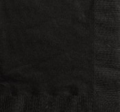 Парти салфетки черни, 20 бр в пакет