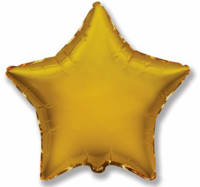 Фолиев балон Звезда, злато 23 см Flexmetal /GD/