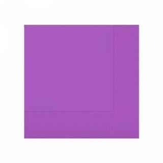 Парти салфетки 33х33 см лилави
