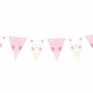 Банер гирлянд за декорация Коте / Cat, 2,0 м дължина /Gd/