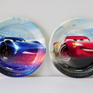 Хартиена парти чинийка Маккуин Колите 23 см, лицензирана Pixar
