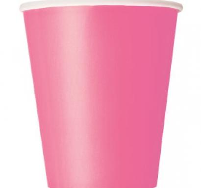 Хартиена парти чашка розова 250 мл, 14 бр. в опаковка