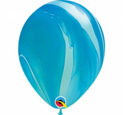Балон мраморен /Marble/ QL  син, диаметър 30 см, /Gd/