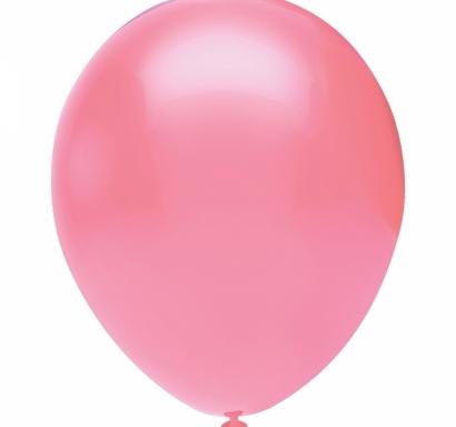 Балон розов пастел, диаметър 30 см, 10 бр. в пакет