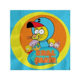 Парти салфетки Крал Шакир / Kral Sakir 33х33 см лицензирани