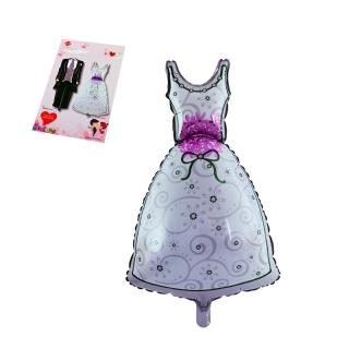 Балон Булка, рокля, сватба /фолио/, 38см. х 82см