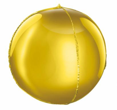 Фолиев балон сфера,  диаметър 40 см, цвят злато /Gd/