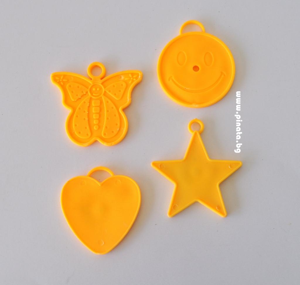 Тежест за балони различни форми – 4 броя в пакет