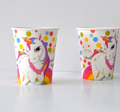 Хартиена парти чашка 270 мл Еднорог, лицензирана