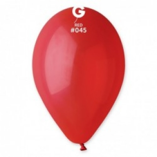 Балон  червен пастел, диаметър 26 см, 10 бр. в пакет Gemar Италия